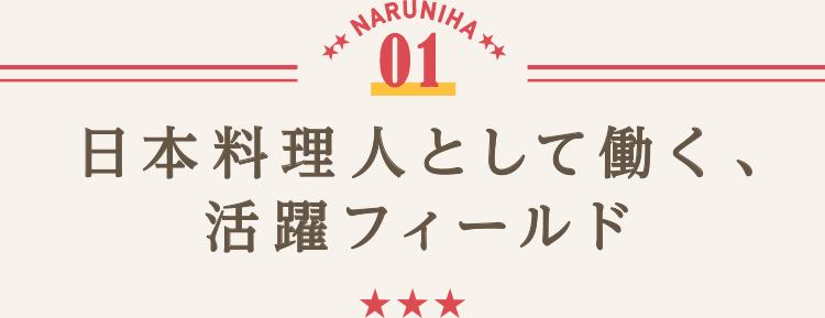 日本料理人として働く、活躍フィールド