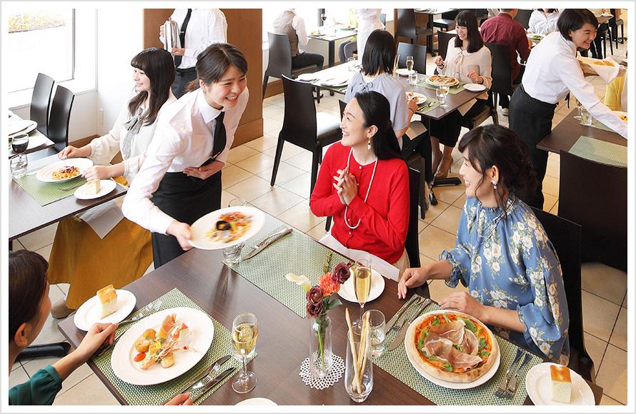 イタリア料理に特化した2年間で本格イタリアンまでレストランで身につく実践力