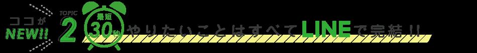 TOPIC2 最短30秒やりたいことはすべてLINEで完結!
